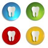 Ensemble de symbole de papier coloré de dent Image stock