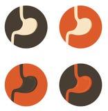 Ensemble de symbole humain d'estomac Photos libres de droits