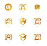 Ensemble de symboles abstraits sur des sujets de construction illustration libre de droits