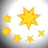 Ensemble de symboles d'étoile Ensemble de symboles simples de pont Photographie stock