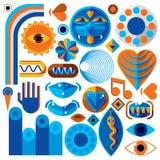Ensemble de symboles d'art abstrait de vecteur, graphique moderne différent de style Photos stock