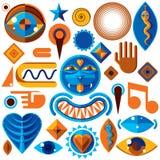 Ensemble de symboles d'art abstrait de vecteur, graphique moderne différent de style illustration de vecteur