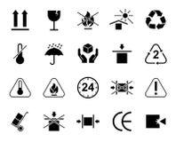 Ensemble de symboles d'emballage Images stock