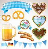 Ensemble de symboles d'Octoberfest Images stock