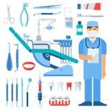 Ensemble de symboles de dentiste Images libres de droits