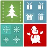 Ensemble de symboles de Noël Image libre de droits