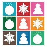 Ensemble de symboles de Noël Image stock