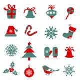 Ensemble de symboles de Noël Photo libre de droits