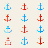 Ensemble de symboles de point d'attache Vecteur Image libre de droits