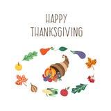 Ensemble de symboles de thanksgiving de vecteur d'isolement Photographie stock