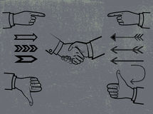 Ensemble de symboles et de signes images libres de droits