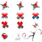 Ensemble de symboles médicaux abstraits illustration de vecteur