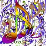 Ensemble de symboles musicaux Photos libres de droits