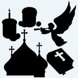 Ensemble de symboles religieux illustration libre de droits