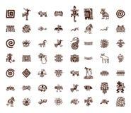 Ensemble de symboles tribal de Brown Images stock