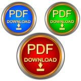 Ensemble de téléchargement de PDF Photo stock