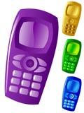 Ensemble de téléphones portables Illustration Stock