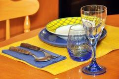 Ensemble de table de dîner Photo libre de droits
