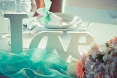 Ensemble de table de mariage Images stock