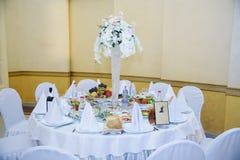 Ensemble de table de mariage photos stock