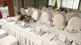 Ensemble de table de réception de mariage banque de vidéos