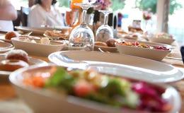 Ensemble de table de restauration Photographie stock