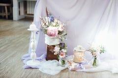 Ensemble de Tableau pour épouser ou un événement approvisionné différent photographie stock libre de droits