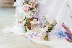 Ensemble de Tableau pour épouser ou un événement approvisionné différent photo libre de droits