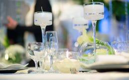 Ensemble de Tableau pour la partie d'événement ou la réception de mariage Photo stock