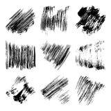 Ensemble de taches à l'encre noire de vecteur Image libre de droits