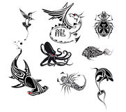 Ensemble de tatoo Photo stock