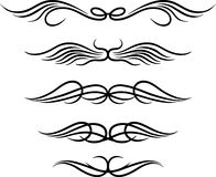 Ensemble de tatouage tribal d'ailes Photo stock