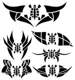 Ensemble de tatouages avec des tortues Images stock