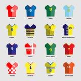 Ensemble de Team Wear de club du football Photos libres de droits