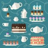 Ensemble de temps de thé Photographie stock libre de droits