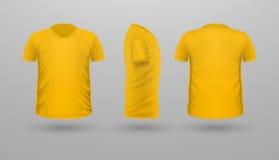 Ensemble de Teplate de T-shirt Front Side Back View Vecteur Images libres de droits