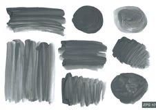 Ensemble de texture d'aquarelle de vecteur Photos stock