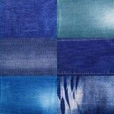 Ensemble de texture de tissu de jeans Photographie stock libre de droits