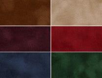 Ensemble de texture multicolore de velours. Image stock