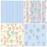 Ensemble de texture quatre sans couture dans les pommes, exécuté Image stock