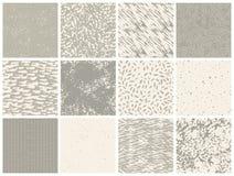 Ensemble de textures abstraites tirées par la main Photographie stock