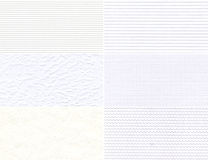 Ensemble de textures blanches. Photo libre de droits
