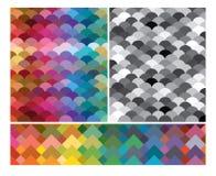 Ensemble de textures colorées modernes d'absrtact Photographie stock libre de droits