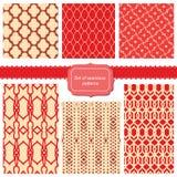 Ensemble de textures de tissu avec différents trellis Photographie stock