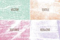 Ensemble de textures de vecteur Images stock