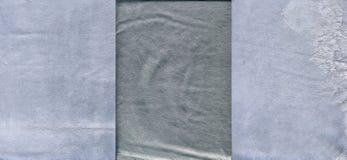 Ensemble de textures en cuir granuleuses grisâtres légères Photos stock