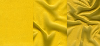 Ensemble de textures en cuir jaunes Photos libres de droits