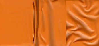 Ensemble de textures en cuir oranges Photo libre de droits