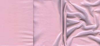 Ensemble de textures en cuir rose-clair Photos stock