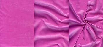 Ensemble de textures en cuir roses Images stock